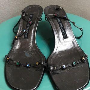 Vintage! Beautiful Giuseppe Zanotti Flower Sandals